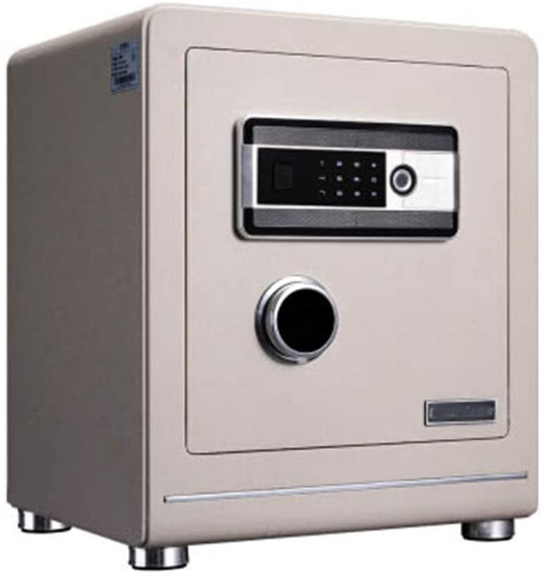 Tuuertge Security Box Small Household Invisible Safe Fingerprint 45cm Fingerprint Password Safe Anti-Theft Office in-Wall Safe Safe Box (Color : Picture Color, Size : 465390365mm)
