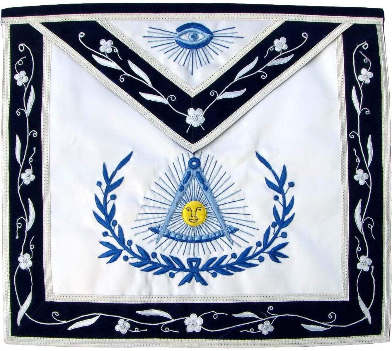Bricks Masons Masonic Blue Lodge Past Master Apron-Satin