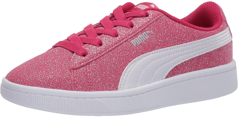 PUMA Unisex-Child Vikky Glitz Slip on Sneaker