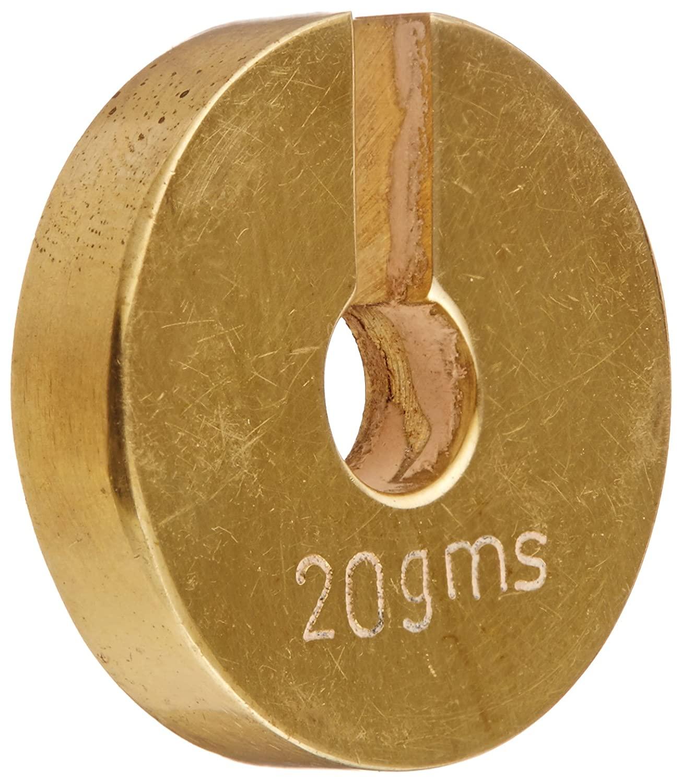 Ajax Scientific Brass Slotted Weight, 20g