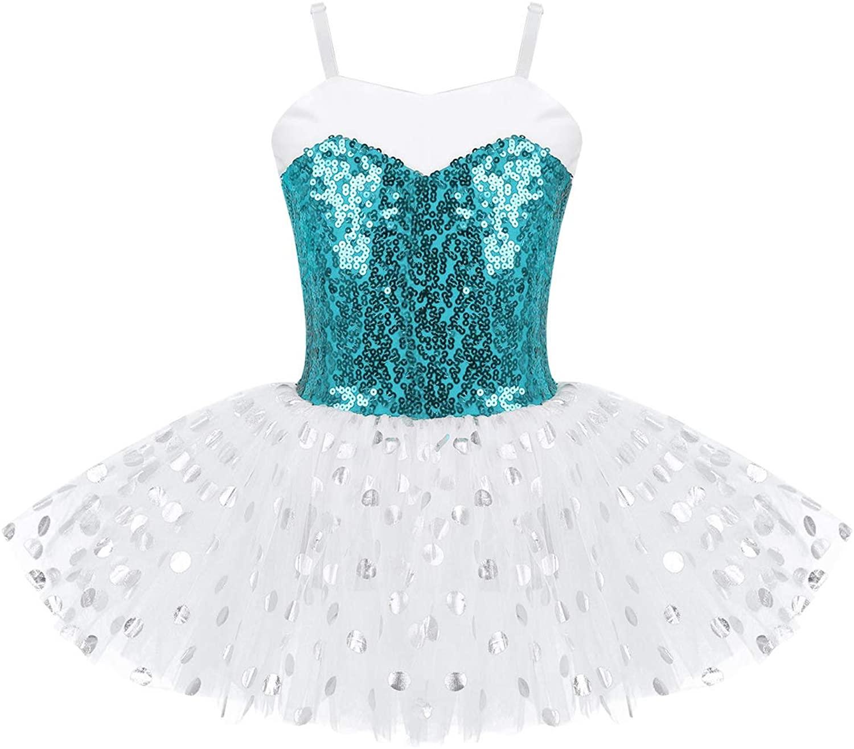 VernLan Kids Girls Ballerina Fairy Camisole Ballet Dress Leotard Glitter Tutu Skirt Swan Dance Performance Costumes