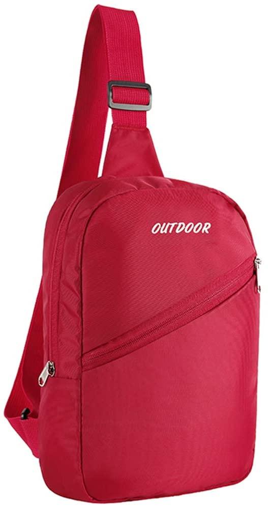Ronze Sling Backpack Crossbody Bag for Men Women, Small Chest Bag for Travel Gym Sport Hiking, Lightweight