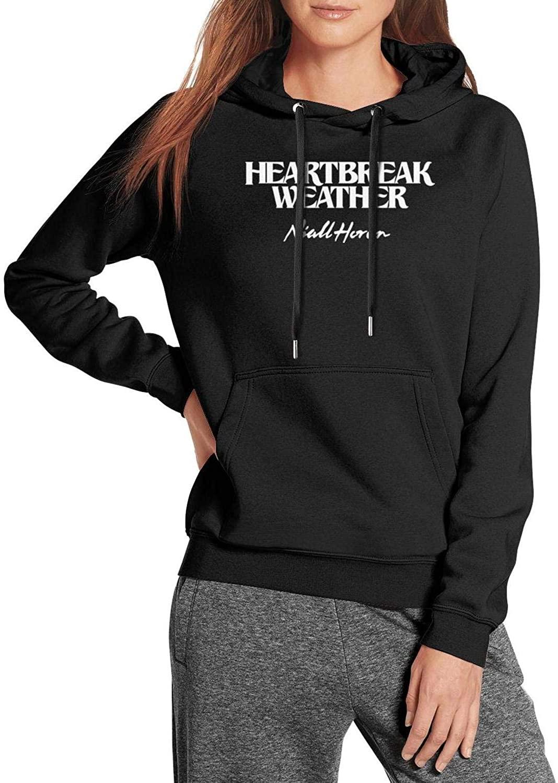 J.SKEY Black Womens Ladies Hooded Sweatshirt Niall-Horan-Heartbreak-Weather- Long Sleeve