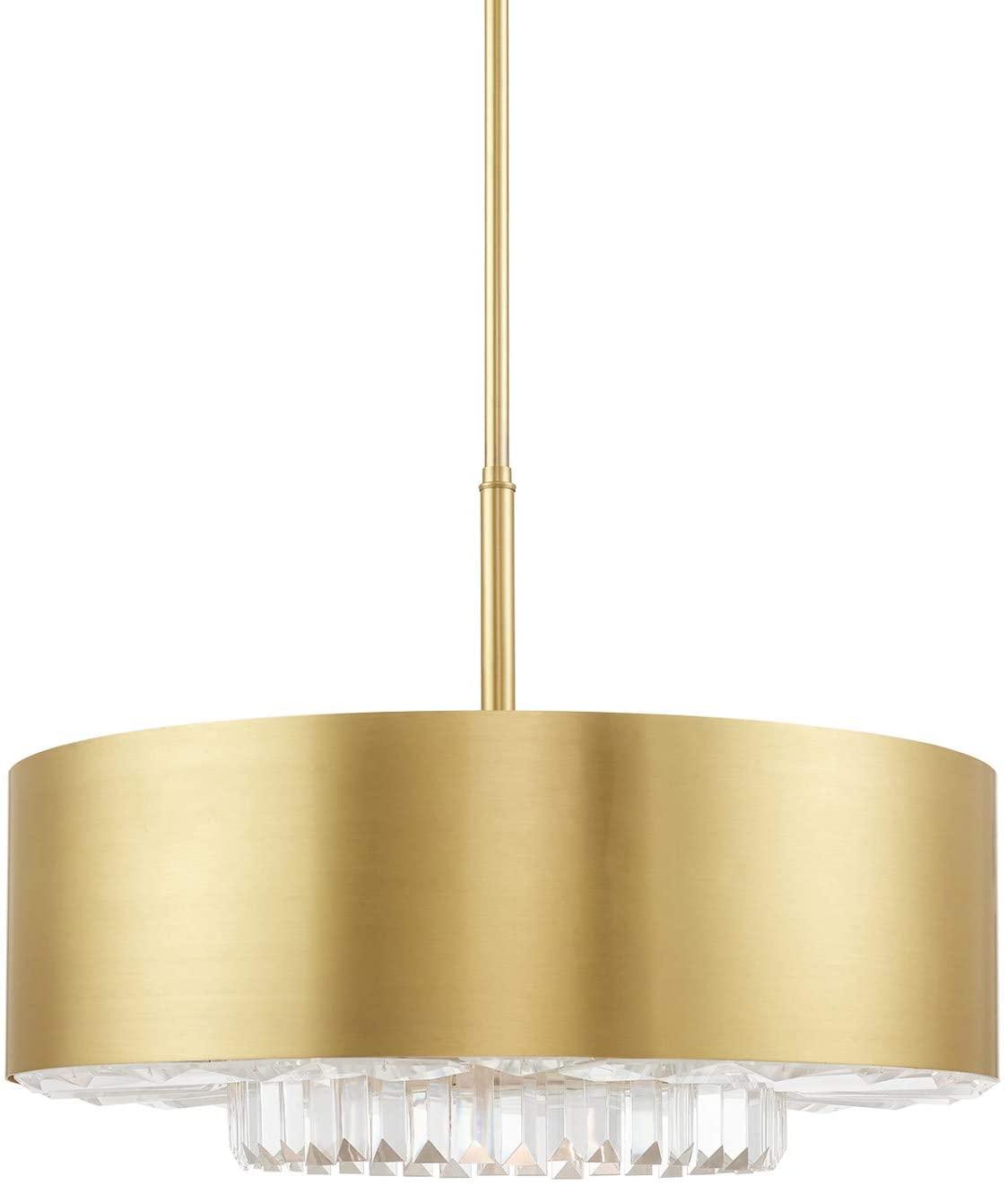 Livex Lighting 40020-12 Satin Brass 6 Lt Pendant Chandelier