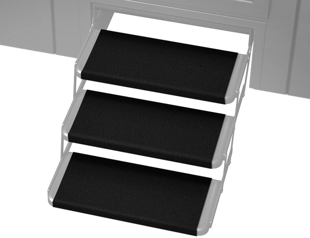 Prest-O-Fit 3-Pack 2-4065 Outrigger RV Step Rug Black Onyx 18 in. Wide