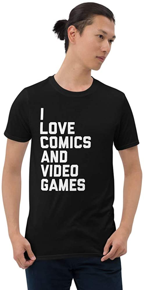 I Love Comics and Video Games T-Shirt
