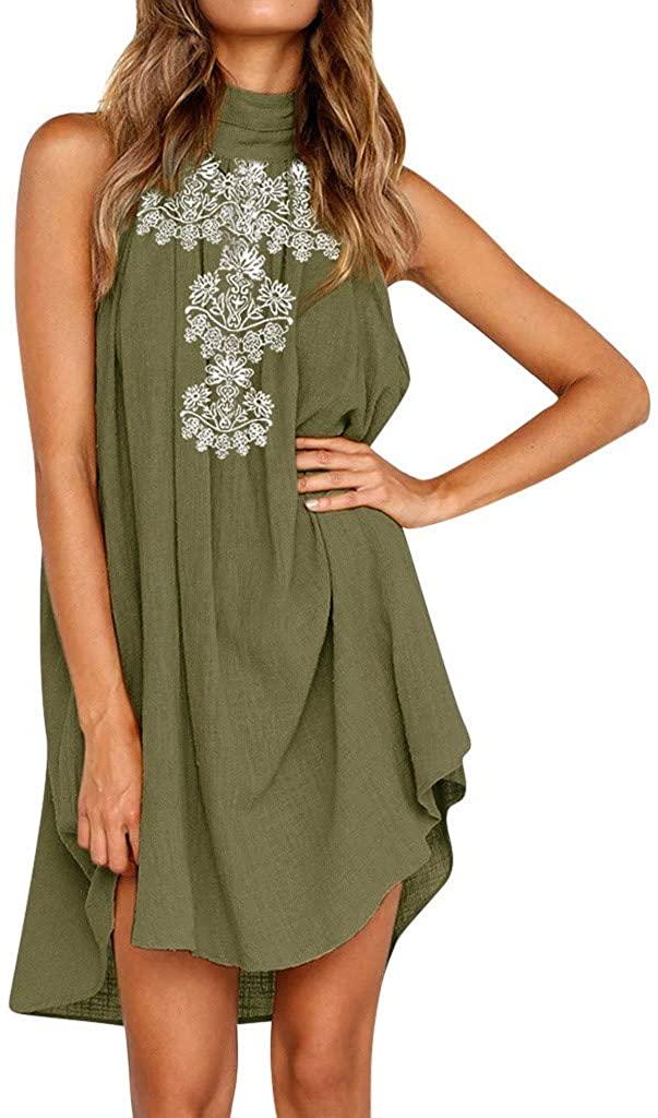 Beach Dresses for Women 2019, Limsea Womens Holiday Irregular Dress Ladies Summer Beach Sleeveless Party Dress