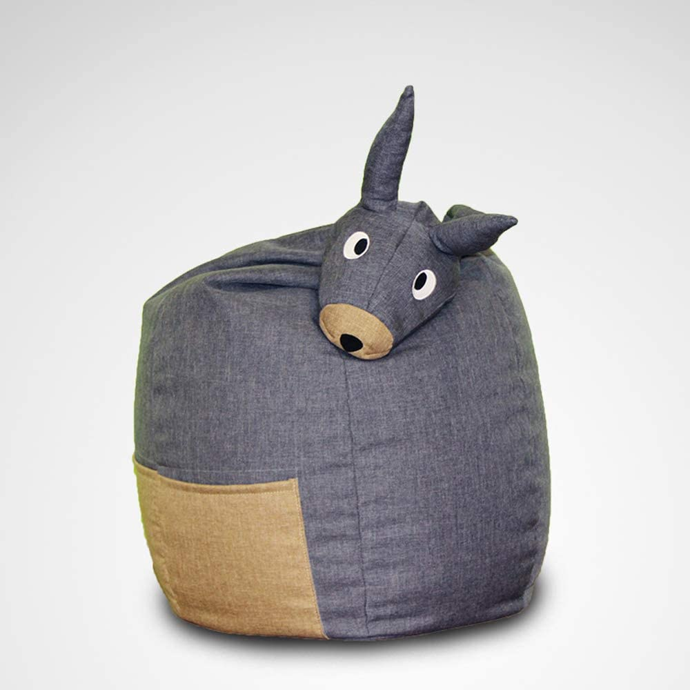 HTWY Bean Bag Chair, Kids Lazy Sofa Seat Washable Cover Beanbag, 22.8322.8327.55 inches,Gray