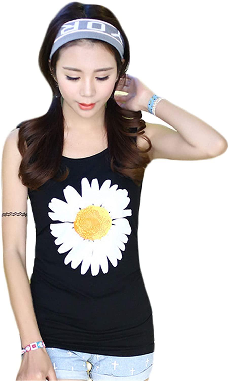 Andongnywell Women's Tank Tops Casual Printed Graphic Sleeveless Shirt Sleeveless Tank Tops Athletic Vests Shirts