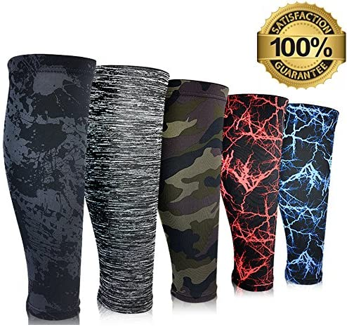 Compression Calf Sleeves (1 Pair) Leg Compression Socks for Shin Splints & Calf Pain Relief, Perfect for Men Women Runners Cycling, Improve Performance