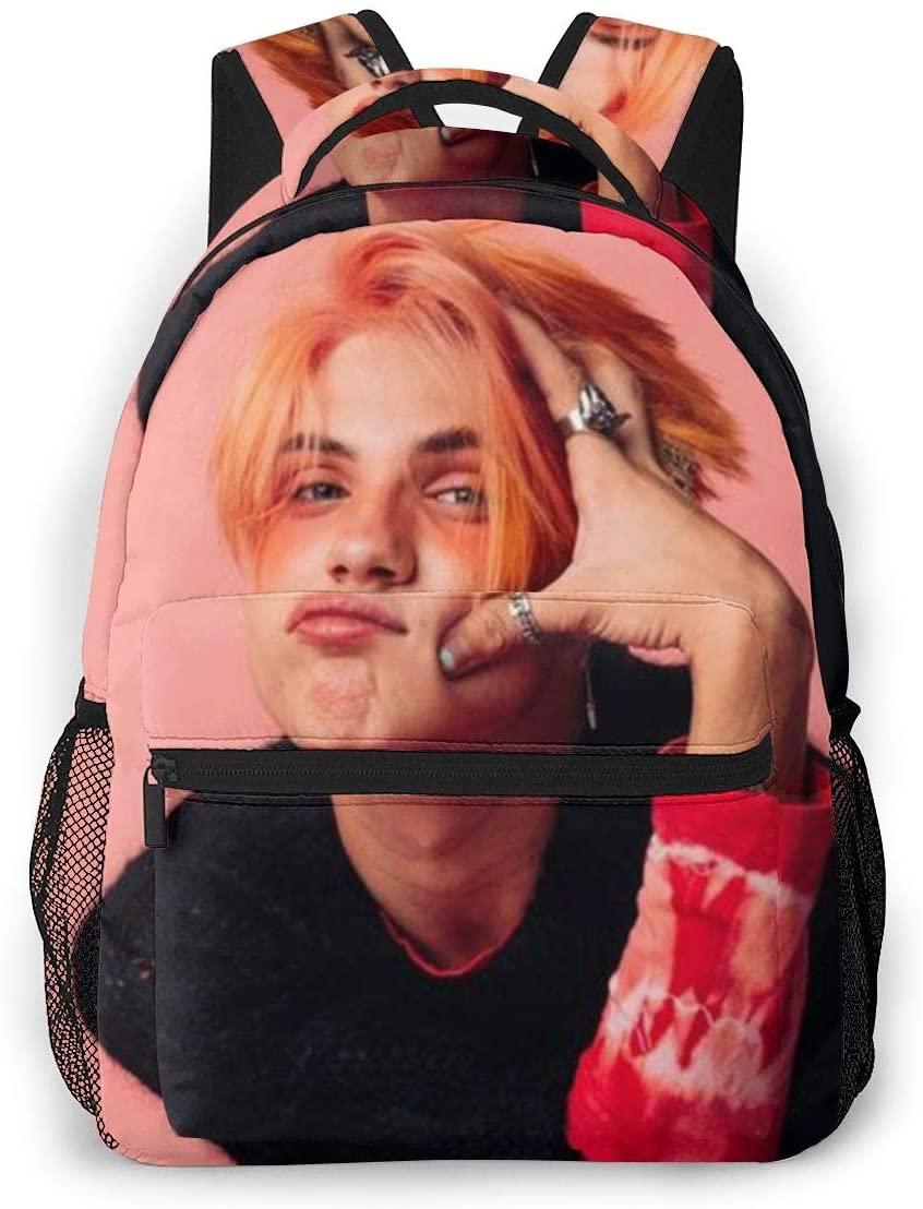 Noen-Eubanks Dazed Beauty E-boy-Aesthetic 3-D Print Backpack Large Casual Backpack for Youth
