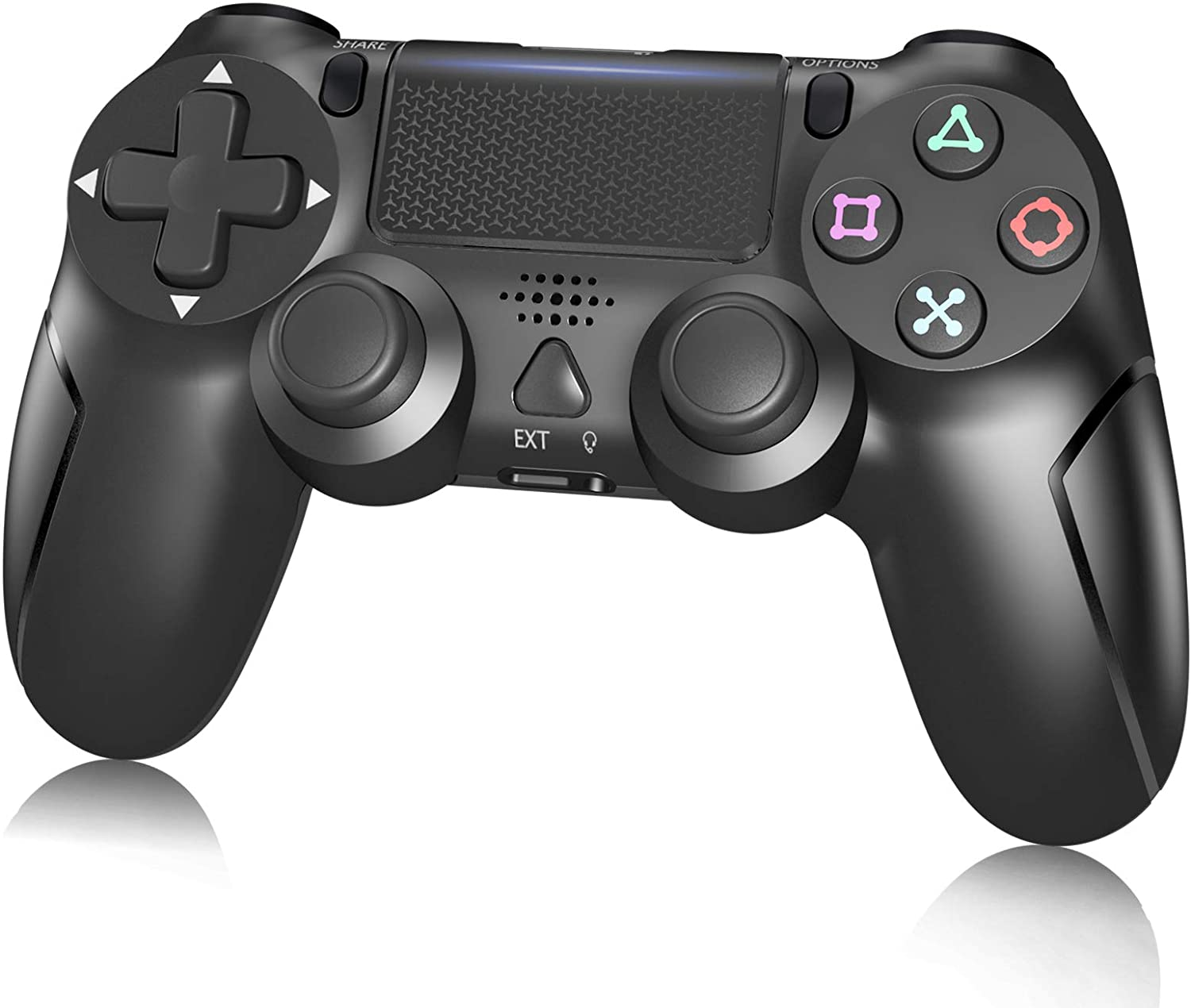 Controller for PS4 Wireless Gamepad for Playstation 4/Slim/Pro with Motion Motors,Gyro Function,Speaker and USB Cable-Black