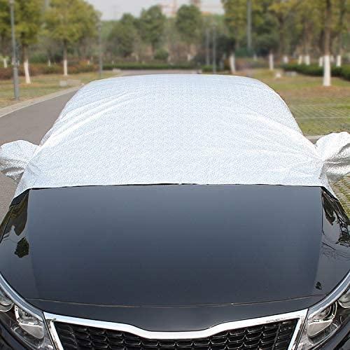 Car Exterior Accessories Great Car Half-Cover Car Clothing Sunscreen Heat Insulation Sun Nisor, Aluminum Foil Size: 4.7x1.8x1.8m