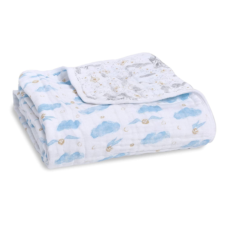 aden + anais Dream Blanket |Boutique Muslin Baby Blankets for Girls & Boys | Ideal Lightweight Newborn Nursery & Crib Blanket, Unisex Toddler Bedding, Shower & Registry Gift, Harry Potter