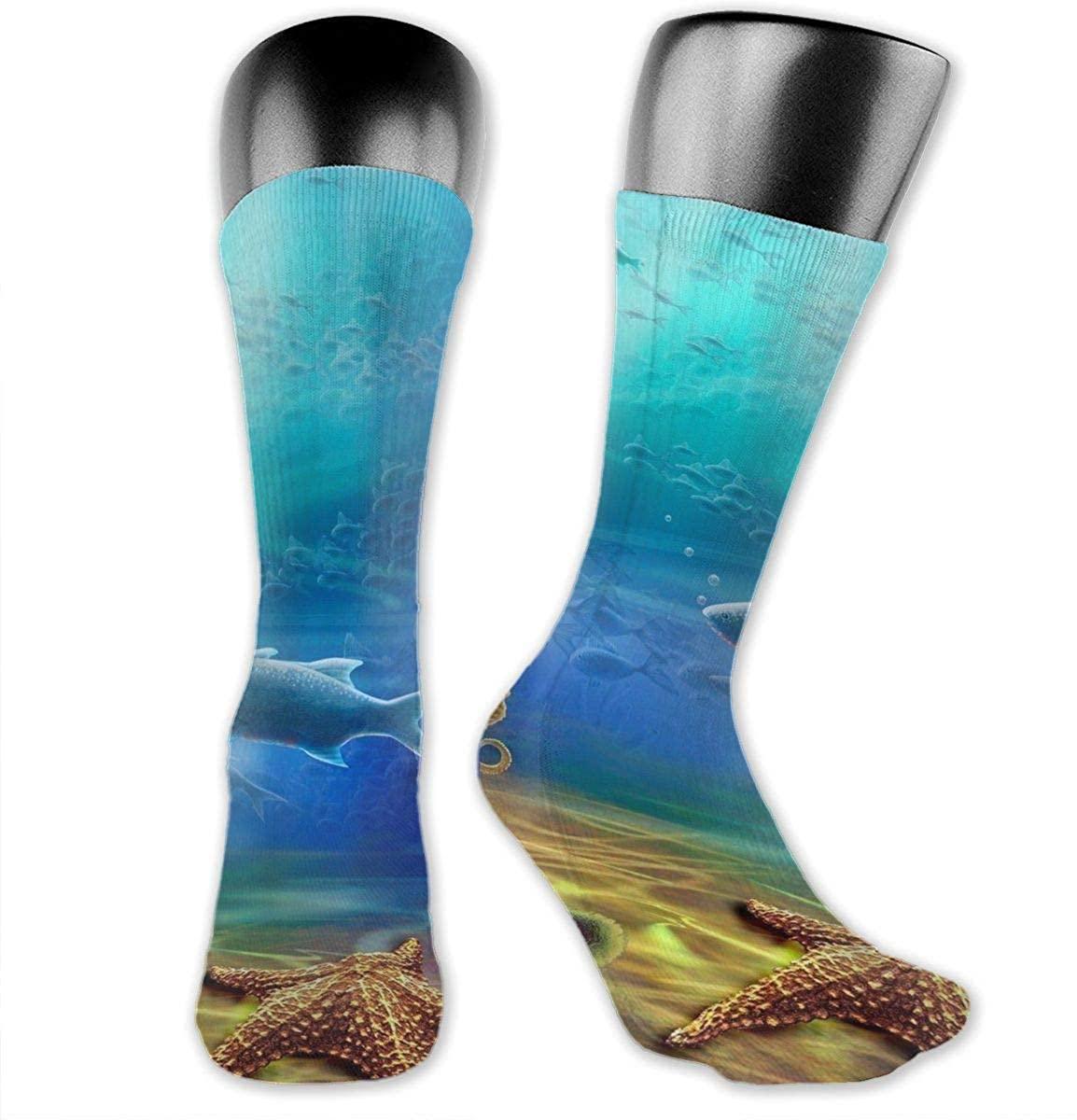 Field Rain Shark Unisex Outdoor Adult Sport Over-The-Calf Long Tube Stockings Crew Socks