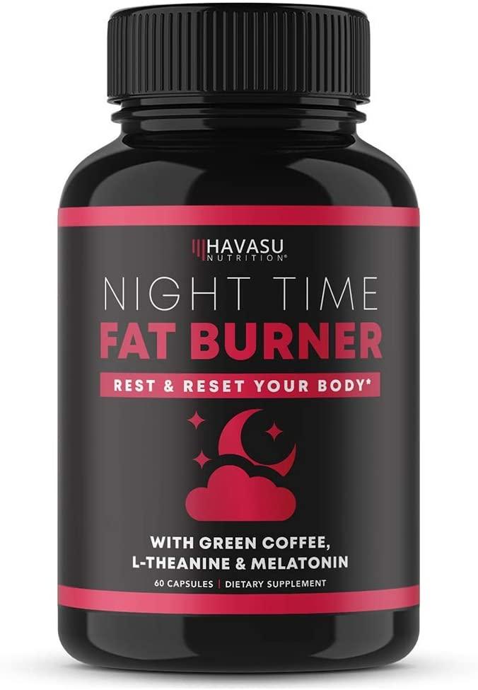 Havasu Nutrition Night Time Fat Burner | Metabolism Booster, Appetite Suppressant & Sleep Supplement to Support Weight Loss | 60 Weight Loss Supplement Pills for Men and Women