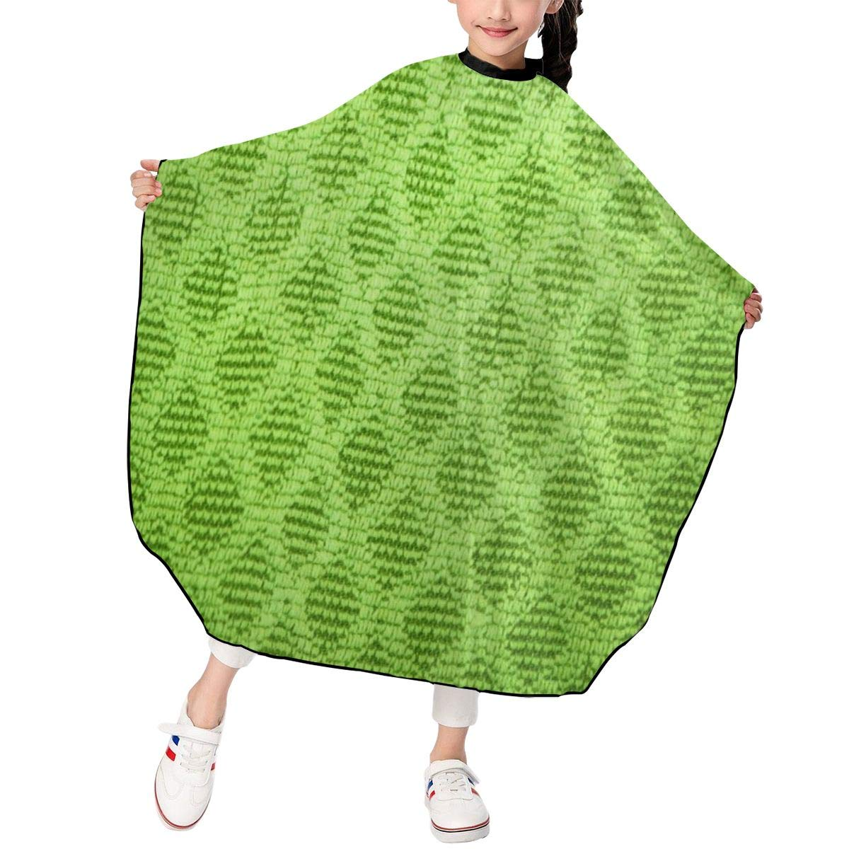 Barber Cape, Lime Green Diamond Professional Haircut Cape, Hairdressing Apron, Hair Cutting Cape for Kids