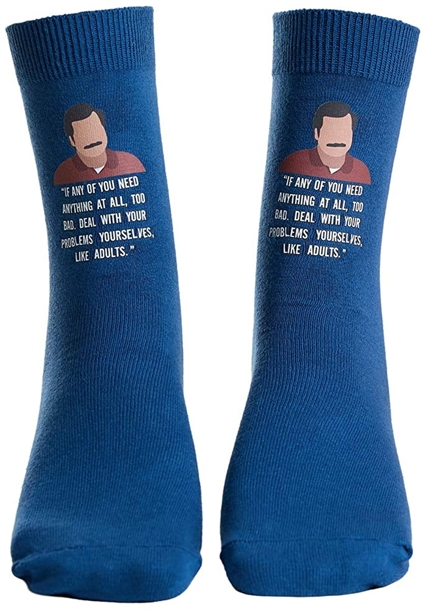 Udobuy Ron Swanson Quotes Parks and Rec Socks Ron Swanson Socks Parks and Rec Gift Parks and Rec Present Ron Swanson Present Funny Socks Socks for Men or Women