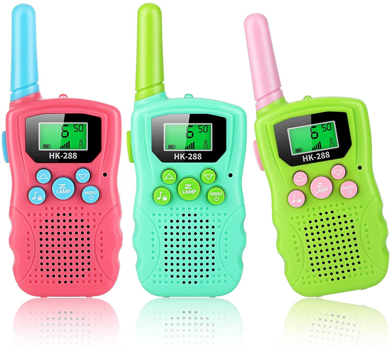 Walkie Talkies for Kids, 3 Pack 22 Channels 2 Way Radio Gifts Kids Toys for Age 3-12 Boys Girls, 3 KMs Long Range Interphone for Outdoor Adventure Game, Camping by AGPTEK
