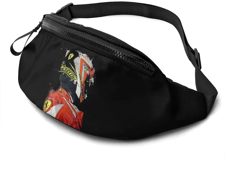 rtyrtyrty Kimi Räikkönen Waist Pack - Running Hiking Cycling Sport Casual Waist Bag Hip Pack Outdoor Travel Crossbody Sling Backpack for Men & Women