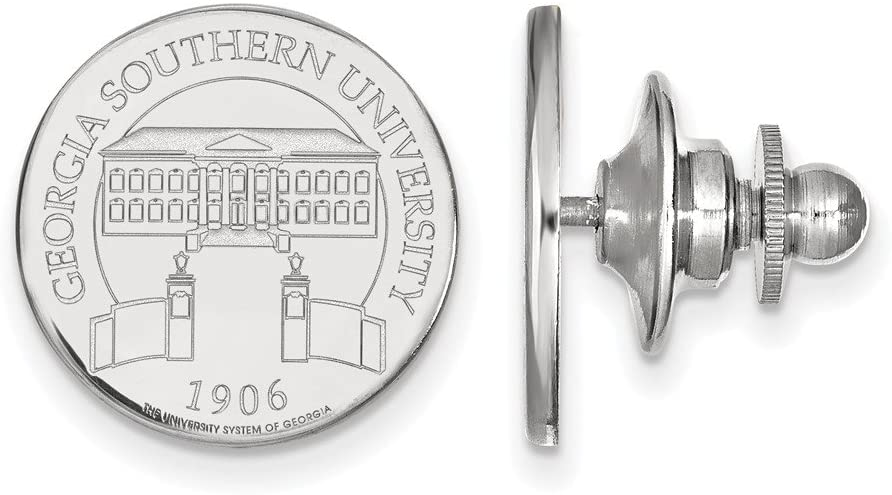 14kw LogoArt Georgia Southern University Crest Disc Lapel Pin