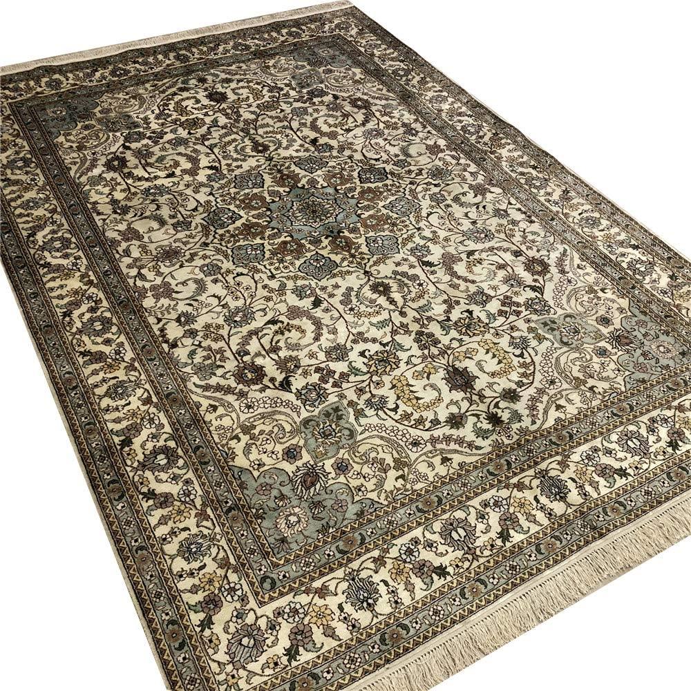Camel Carpet 6'x9' Antique Silk Carpet Hand Made Persian Area Rug