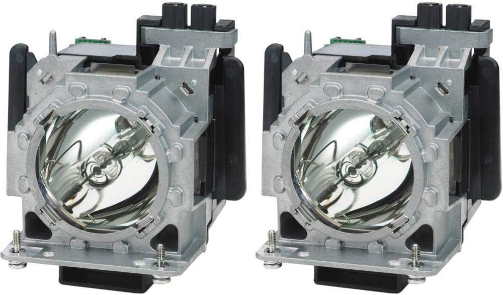 PHO ET-LAD310W ET-LAD310AW (Twin Pack) Genuine Original Replacement Bulb/Lamp with Housing for Panasonic PT-DW8300 PT-DW8300U Projector (OEM Panasonic Bulb)