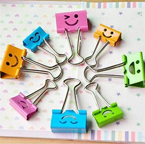 Clips Wholesale 800 pcs School Supply Colorful Metal Mini Binder Clips Paper Clips Random Color - (Color: Random Mixed)