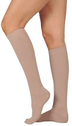 20-30 mmHg Juzo Dynamic (Varin) AD-N Compression Stockings. Knee High. Closed Toe. Short. Silicone Grip. 3.5cm. ,Size:I,Black