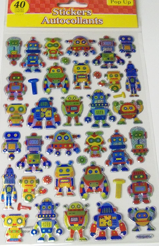 Pop Up Stickers ~ Robotic Adventures (40 Stickers)