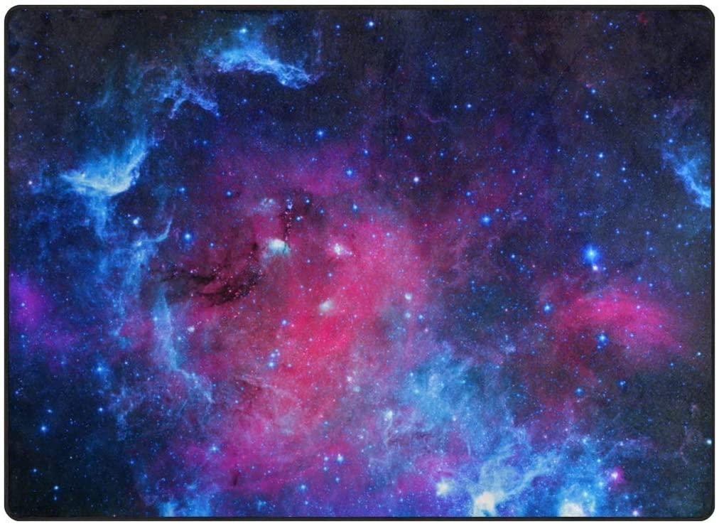 My Little Nest Area Rug Colorful Nebula Lightweight Non-Slip Soft Mat 4'10