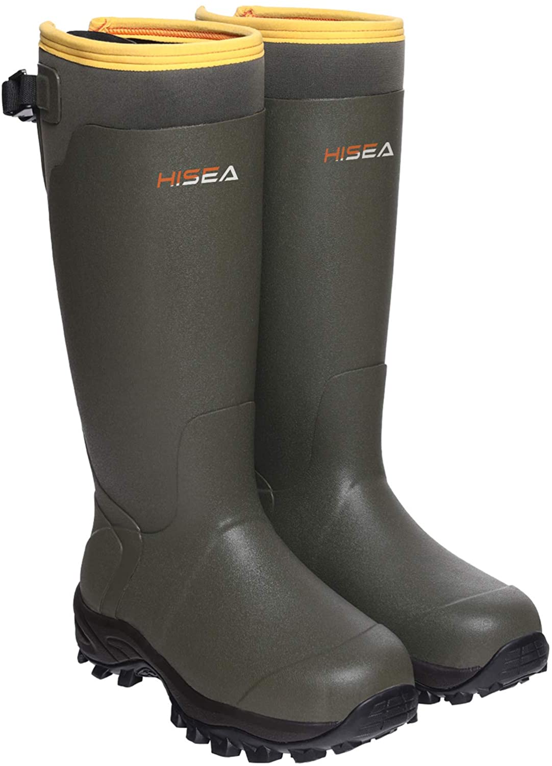Hisea Apollo Basic Hunting Boots for Men Waterproof Insulated Rubber Boots Rain Boots Neoprene Mens Boots Dark Green