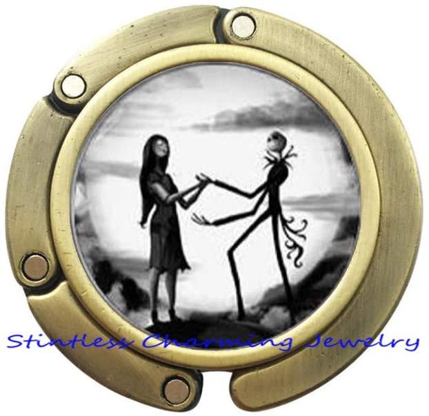 Jack and Sally Inspired Purse Hook,Jack Skellington Moon Bag Hook, Wedding Gifts, Art Gifts for for Men, for women-JV67