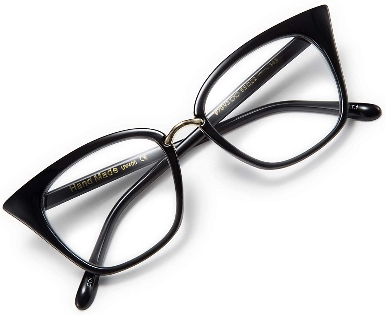 WANWAN Women Cat Eye Reading Glasses Fashion Frame Oversized Quality Readers