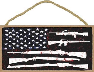 SJT ENTERPRISES, INC. American Flag Made of Guns and Stars 5
