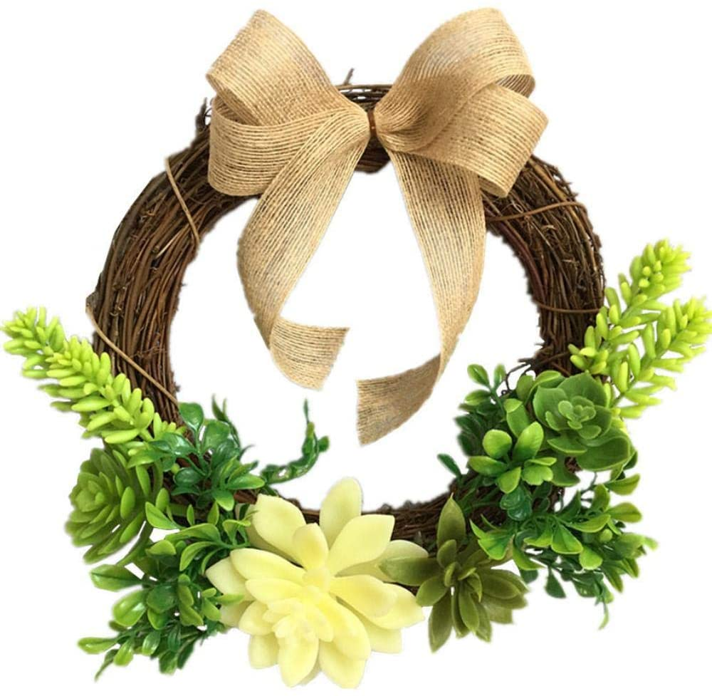 HNJYXX Christmas Wreath Artificial Succulents Front Door Hanging Kitchen Wall Table Home Wedding Decoration