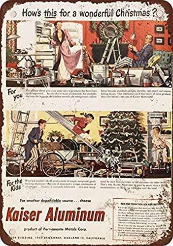 Lplpol 1948 Kaiser Aluminum Christmas Toys Vintage Metal Signs Inch 10