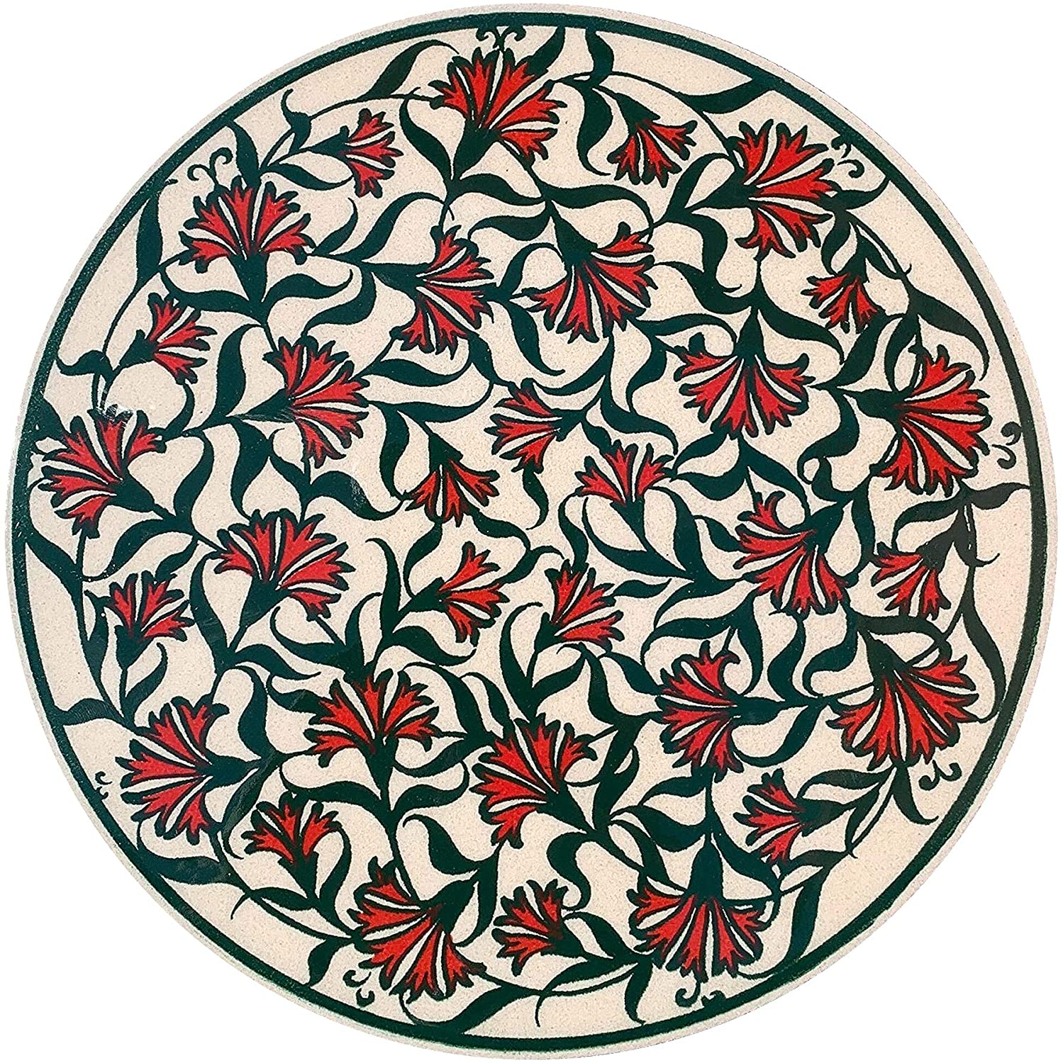 EuroHand Lina Turkish Handmade Ceramic Trivet Pot Holder -Ottoman Decorative Hot Pots Dishes and Pans Trivets Coasters for Tables - Scratch Proof Heat Resistant Housewarming Hot Pads for Oven
