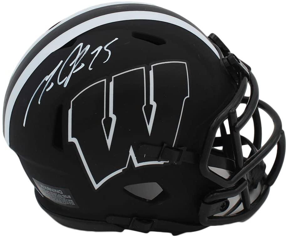 Melvin Gordon Autographed/Signed Wisconsin Speed Eclipse Mini Helmet