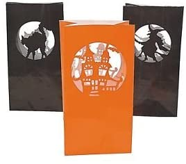 Paper Halloween Silhouette Luminary Bags 12 Pc (70/8165)
