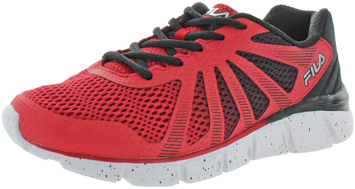 Fila Boys Fraction 2 Trainers Sport Running Shoes Red 5 Medium (D) Big Kid