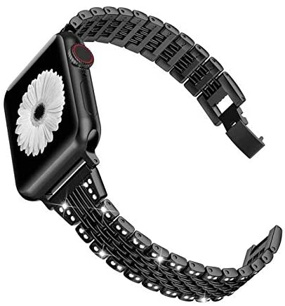 Premium Compatible with apple watch bands 38mm 40mm 42mm 44mm, stainless steel replacement strap Compatible for iWatch Series 5/4/3/2/1 Professional & Comfortable ( Band Color : 7P2Z 1 , Size : 44mm )