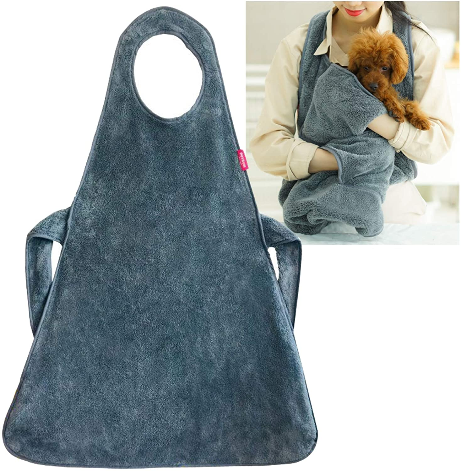 PETAUM] Premium Microfiber Pet Apron Towel – Super Absorbent and Quick Drying – Perfect for You and Dogs and Cats