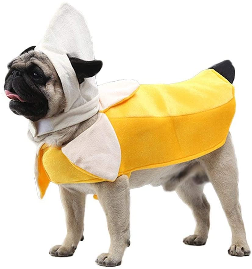 Banana Dog Costume - Funny Halloween Dog Costume Cute Dog Cosplay Jumpsuit Fashion Dress for Puppy Small Medium Large Dogs Special Events Photo Props Accessories