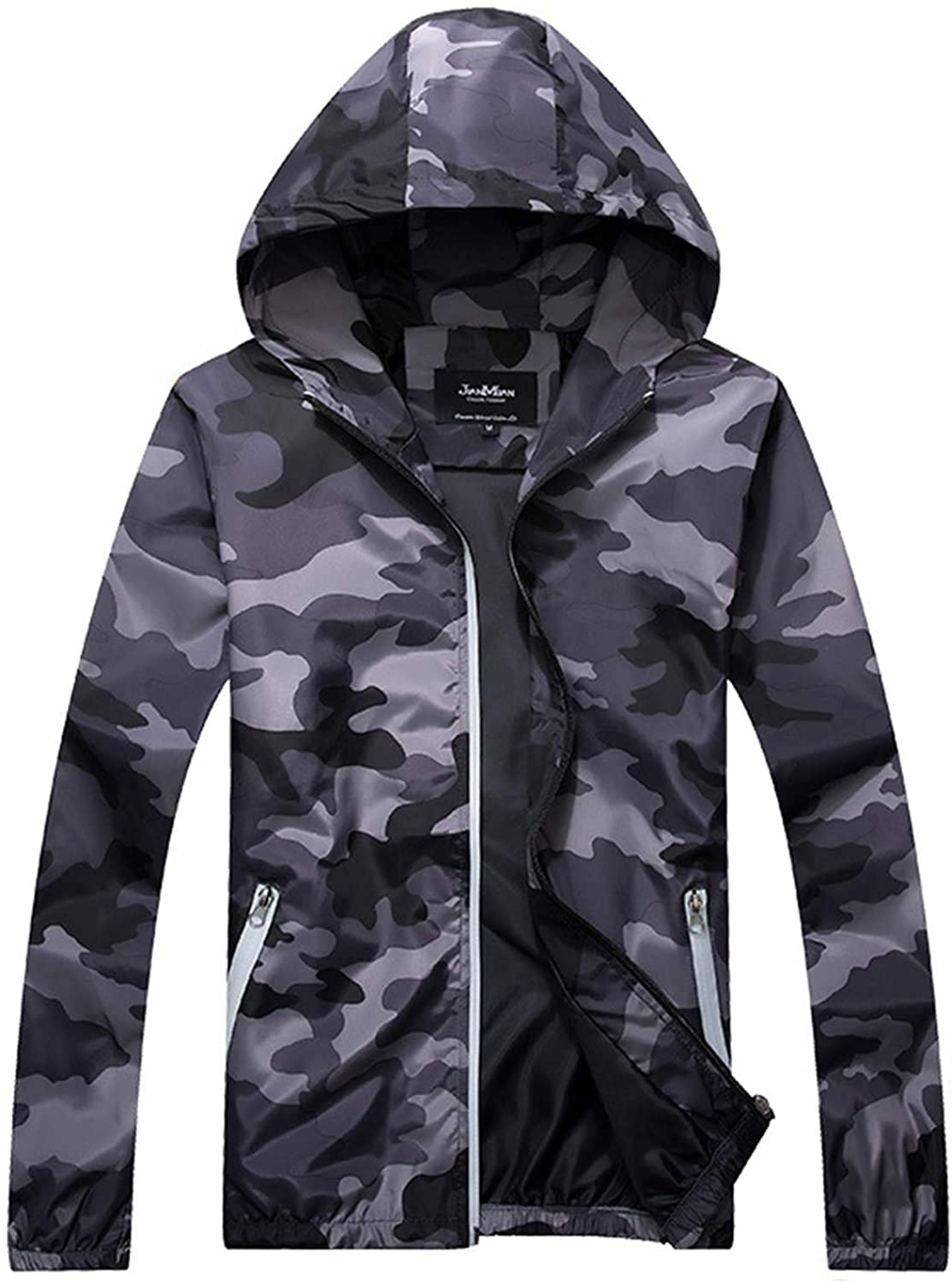 Soluo Men's Outdoor Waterproof Soft Shell Hooded Military Tactical Jacket Outwear Overcoats