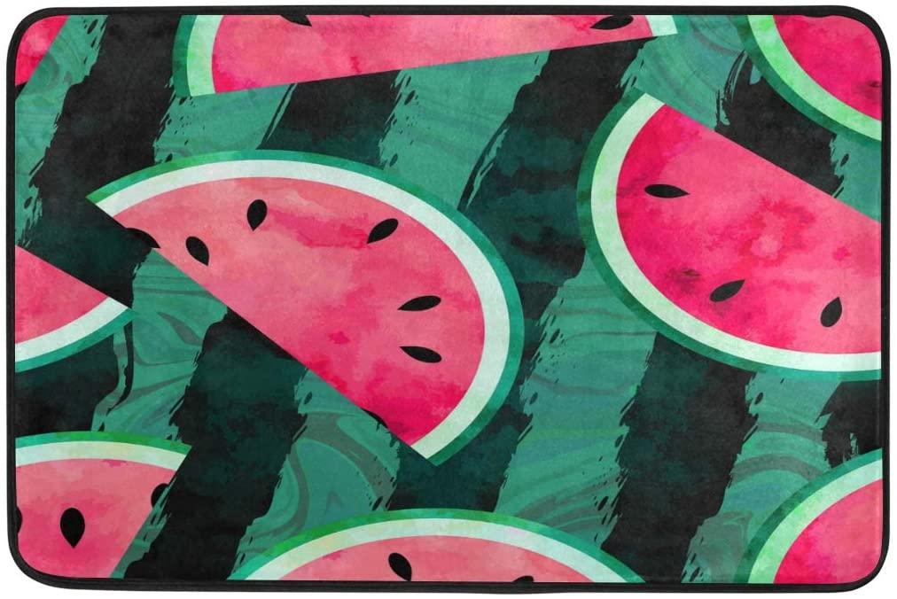 Lyetny Watermelon Prints Nonslip Indoor Area Rug Kitchen Hallway Bathroom Entry Rugs 23.6 X 15.7 inch