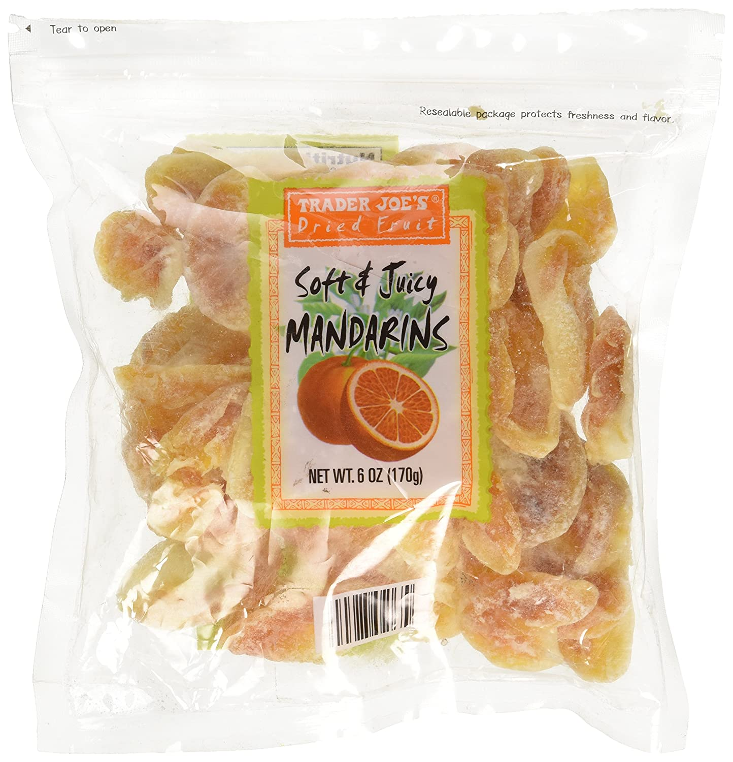 Trader Joe's Dried Fruit Soft & Juicy Mandarins 6oz.