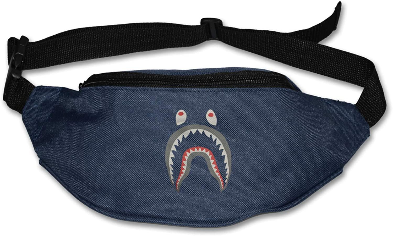 Ap.Room Bape Shark Travel Cycling Waist Pack Crossbody Pack for Men Women Hiking Waist Bag Pack for Running Walking