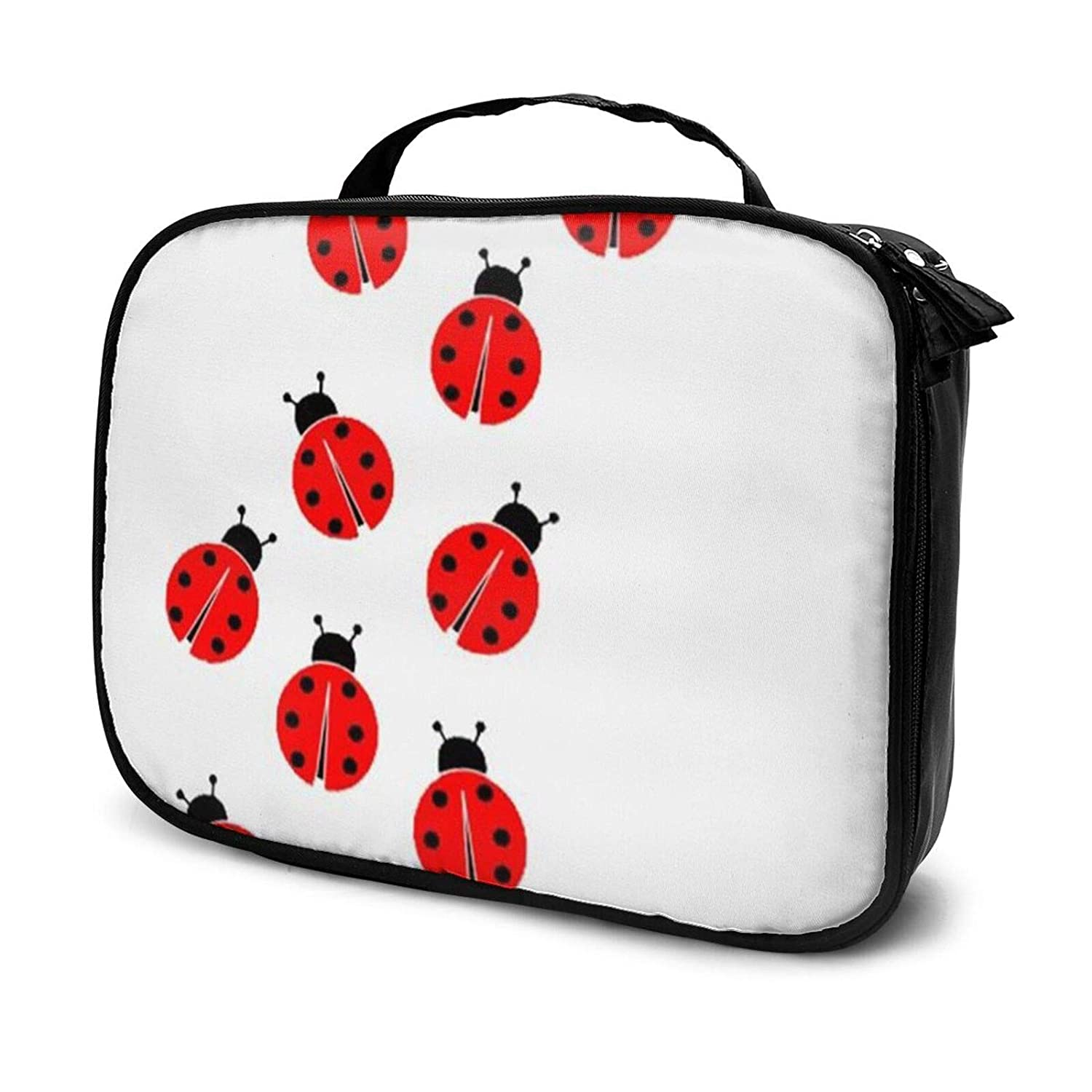 Ladybugs Cosmetics Bag, Large Makeup Bag,Toiletry Pouch Bag Zipper Pouch Travel Organizer For Women And Girls