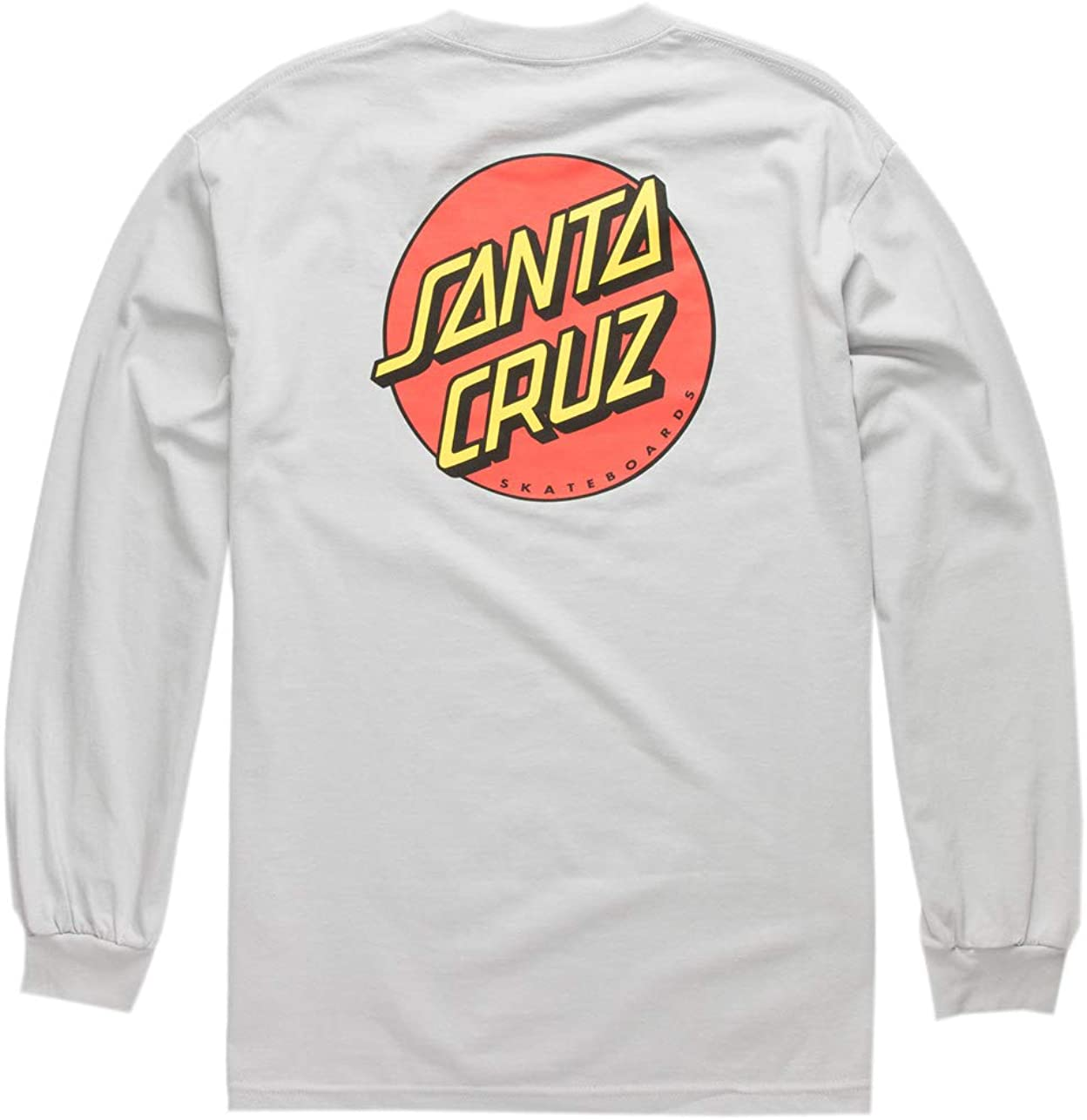 Santa Cruz Men's Classic L/S Shirts,Medium,Silver